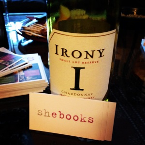 SheBooks reception. The perfect wine!