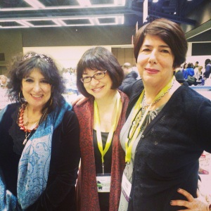 Elmaz and two of her very first MFA students! (20 yrs later)